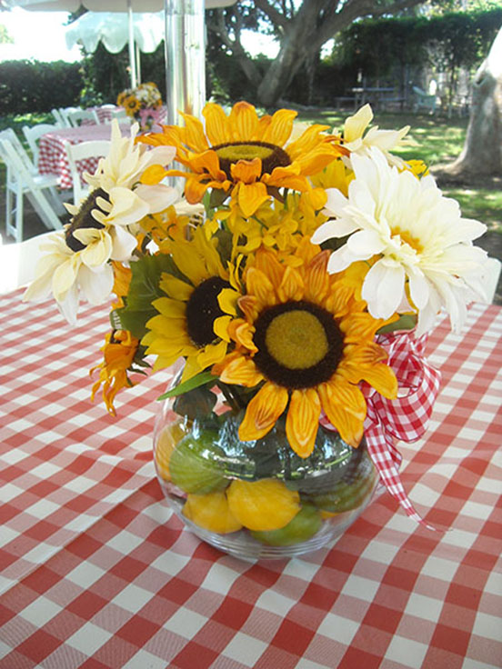 Sunflower Centerpiece resize