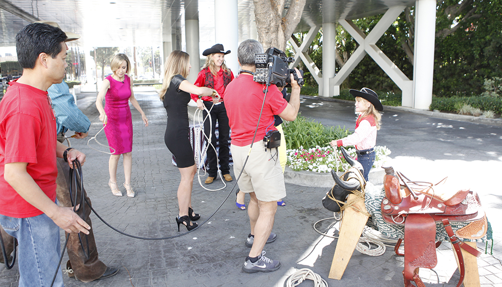 Emily on the Good Day LA Microphone