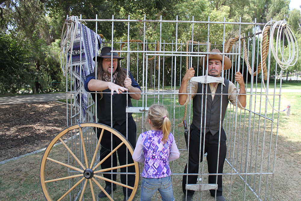 Cowboy jail.  Lewis Events.  Western theme parties.