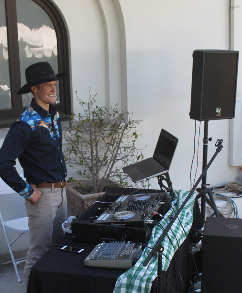 DJ Brett provided music
