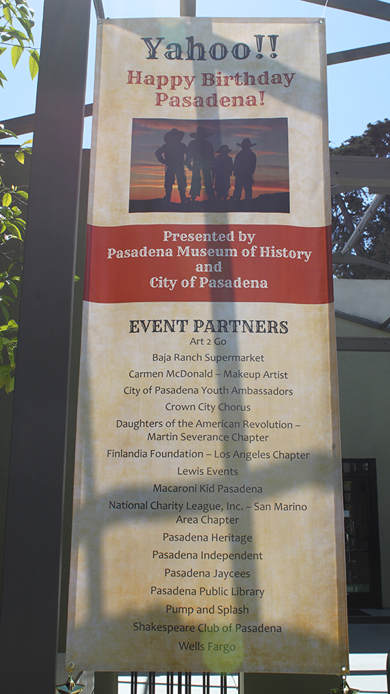 Happy Birthday Pasadena Sign