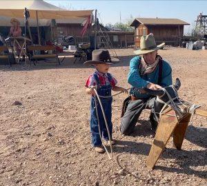Cowboy Jay roping at Calico